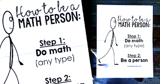 """We are all math people! In this post is a free How to be a Math Person poster to help instill a growth mindset in your math classroom. Also includes a """"How to be a Maths Person"""" version for teachers outside of the US. At the bottom is a link to a PNG image to make a How to be a Math Person t-shirt. You can also print the poster as a funny meme for your math classroom."""
