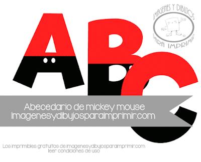 Kit imprimible de letras de Mickey mouse