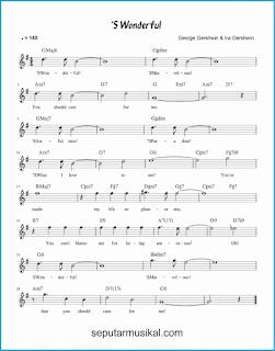 chord 's wonderful lagu jazz standar