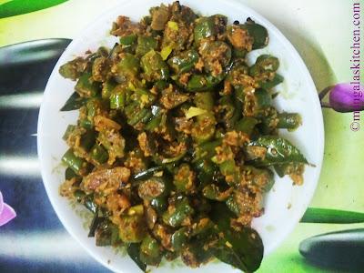 Beans Poriyal in Andhra Style
