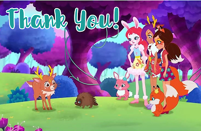 enchantimal thank you card