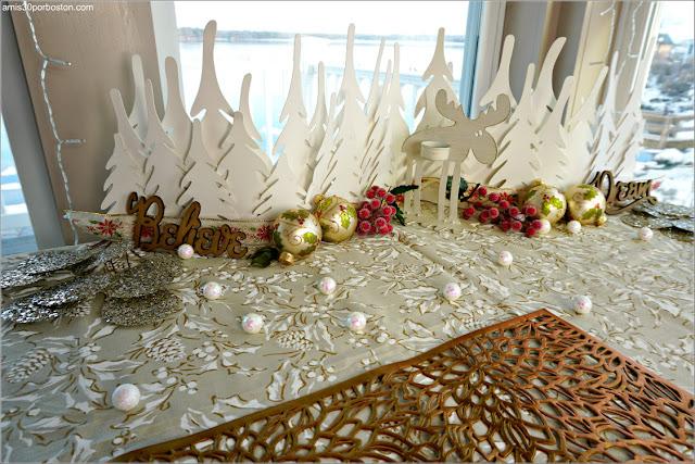 Decoraciones en Nuestra Mesa para la Cena de Nochebuena
