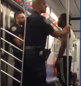 cop harassed on subway by foul-mouthed rider