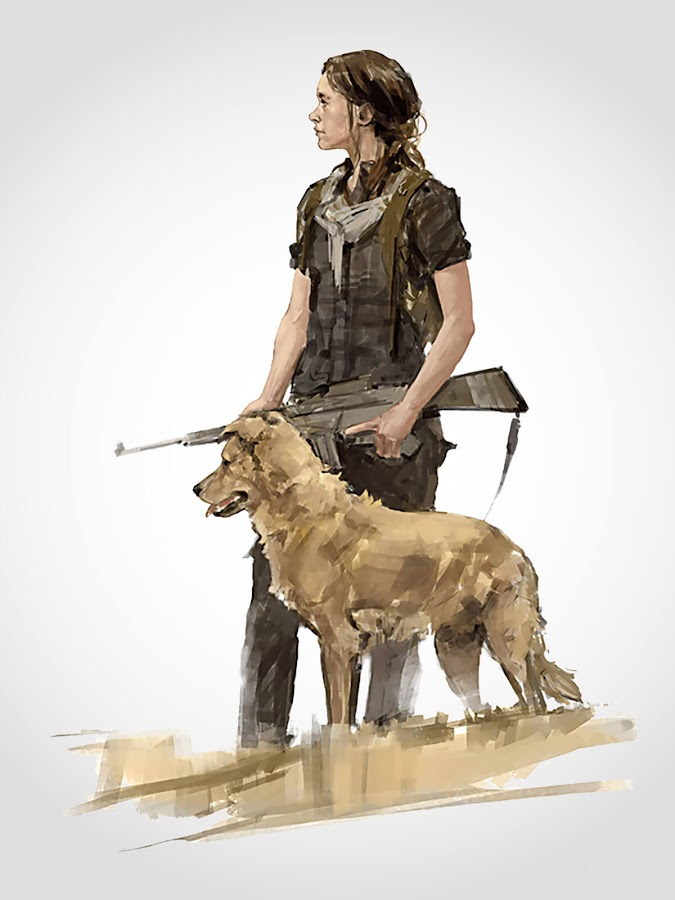 the last of us 2 ellie dog companion concept art dark horse books ps4 exclusive neil druckmann action adventure survival horror naughty dog sony entertainment interactive tlou 2