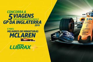 Promoção Lubrax+ GP da Inglaterra 2019