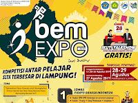 BEM EXPO SMA/SMK/SEDERAJAT Se-Provinsi Lampung Tahun 2019.