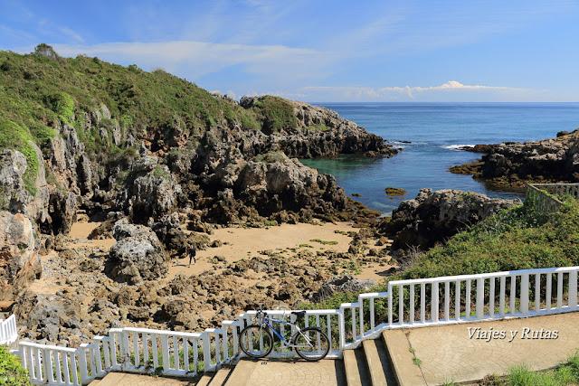 Playas de la Entrellusa, senda Norte