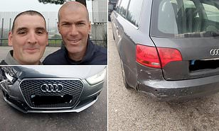OMG! Real Madrid Coach Zidane Involved In A Car Crash, Took Selfie After Getting Help (Read Full Details)