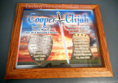 Personalized Framed Plaque with Name Meaning and Bible Verse! Read he review at CirclingThroughThisLife.com #hsreviews