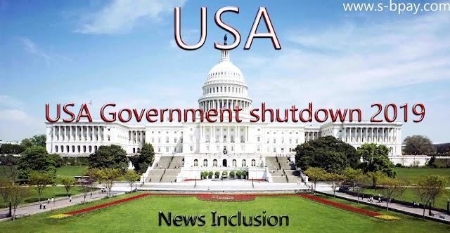 USA Government shutdown 2019 | News inclusion |