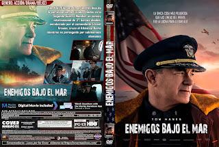 CARATULA ENEMIGOS BAJO EL MAR - EN LA MIRA DEL ENEMIGO - GREYHOUND 2020[COVER DVD]