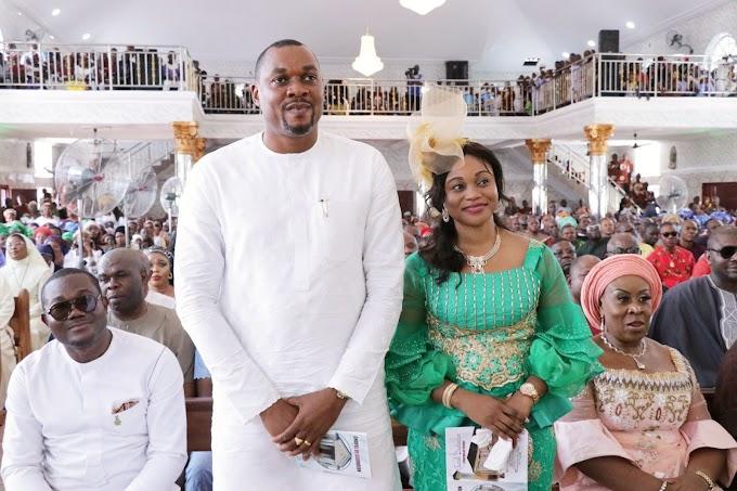 Jubilation as HOR Member elect joins his Abatete Catholic community to dedicate New Mega Church Auditorium