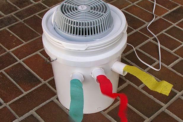Cara membuat AC portabel dari ember bekas