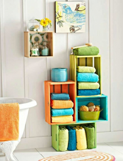 LOVELY DIY BATHROOM STORAGE IDEAS