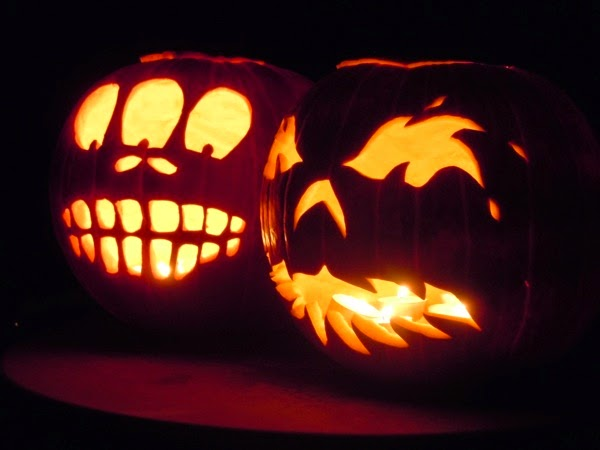 Carved Halloween pumpkin ideas