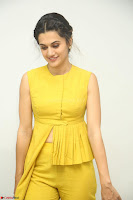 Taapsee Pannu looks mesmerizing in Yellow for her Telugu Movie Anando hma motion poster launch ~  Exclusive 045.JPG