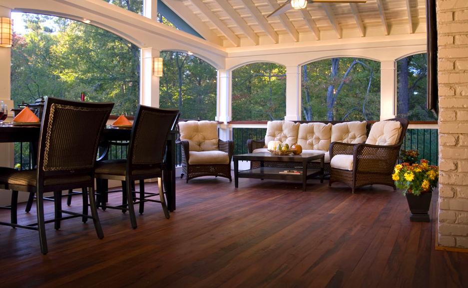 Outdoor Hardwood Deck for Home