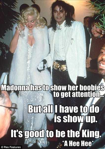 Michael Jackson Madonna Boobies Meme