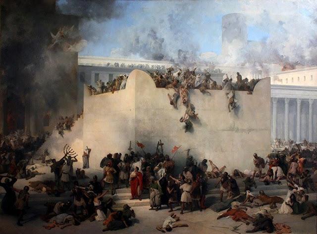 Превземането на Храма в Йерусалим от легионите на Тит Флавий /Франческо Айец, 1867 г./