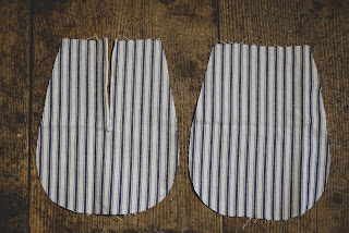 striped 18th century pockets