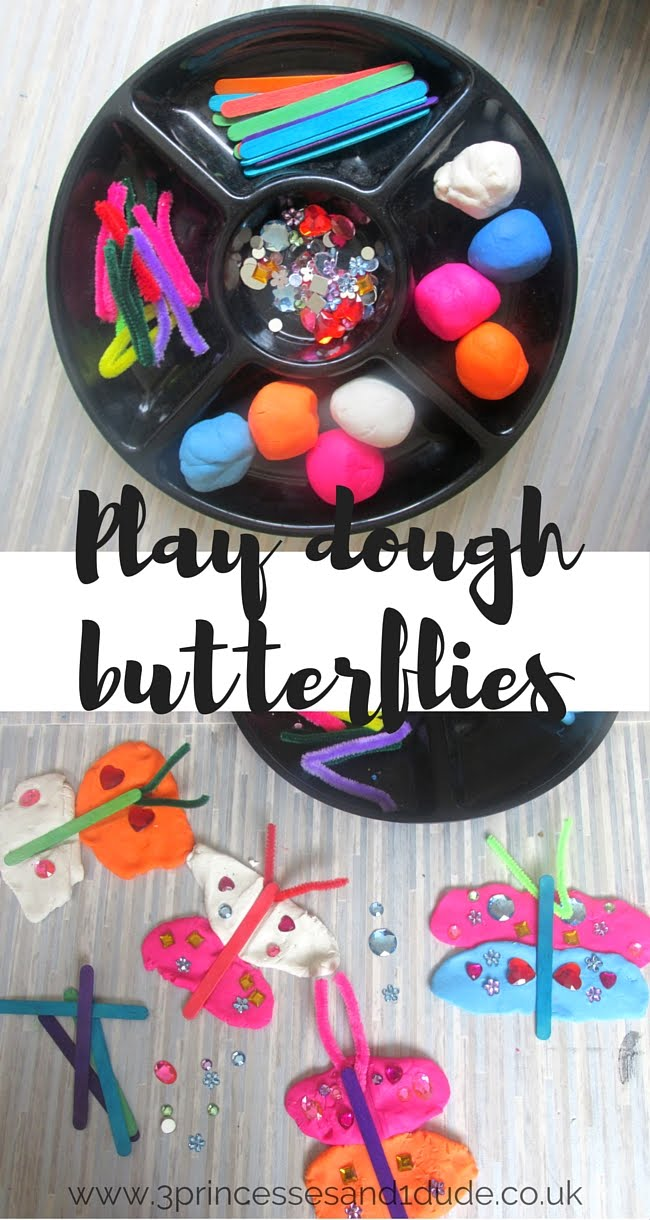 3 Princesses And 1 Dude Play Dough Butterflies Creation