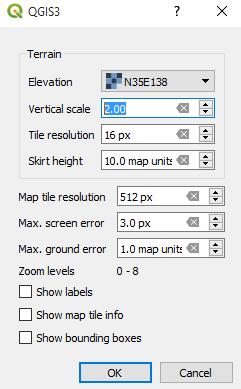 3D Map View Configuration