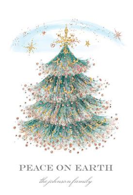 Biglietto di auguri: albero di Natale glitter
