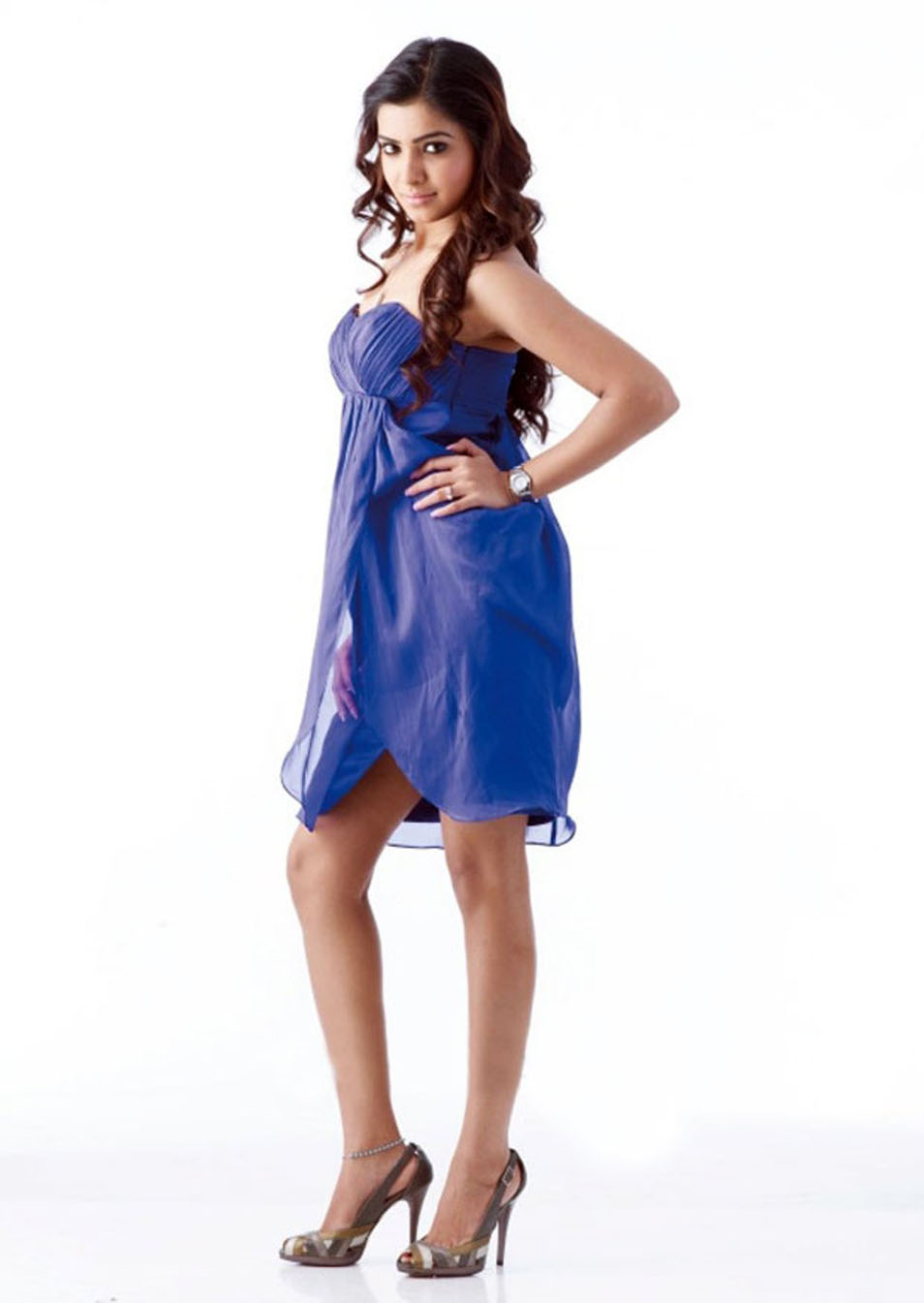 Samantha New Photoshoot in Blue Dress
