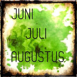 juni, juli, augustus, veerwacht en gelezen