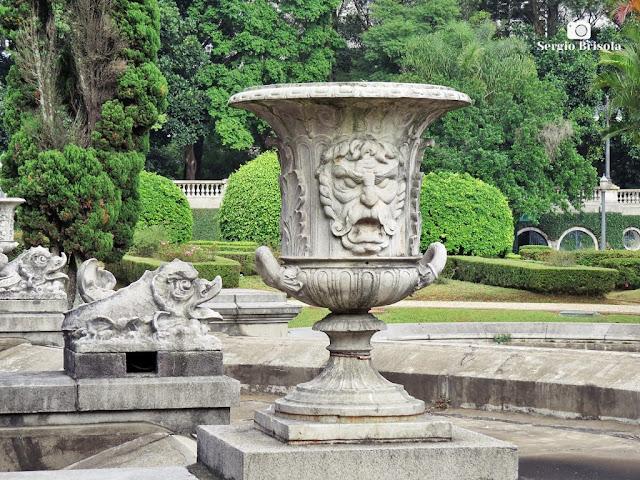 Close-up de um Vaso ornamental do Parque da Independência - Ipiranga - São Paulo