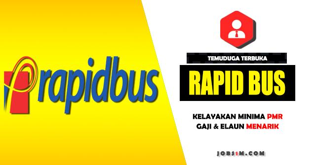 Temuduga Terbuka Rapid Bus Sdn Bhd Pada Julai 2017 - KELAYAKAN MINIMA PMR