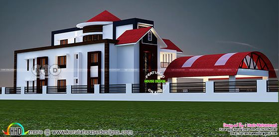 Back side view rendering