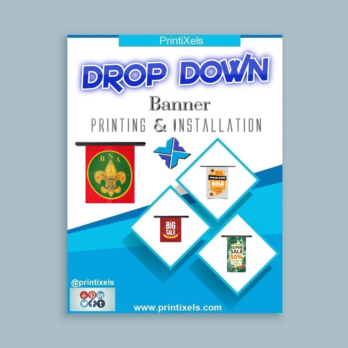Drop Down Banner Printing & Installation