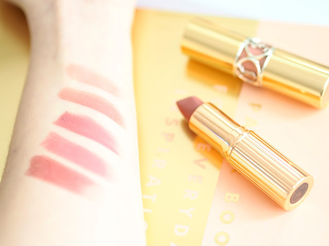 Lipstick swatches spring lilies