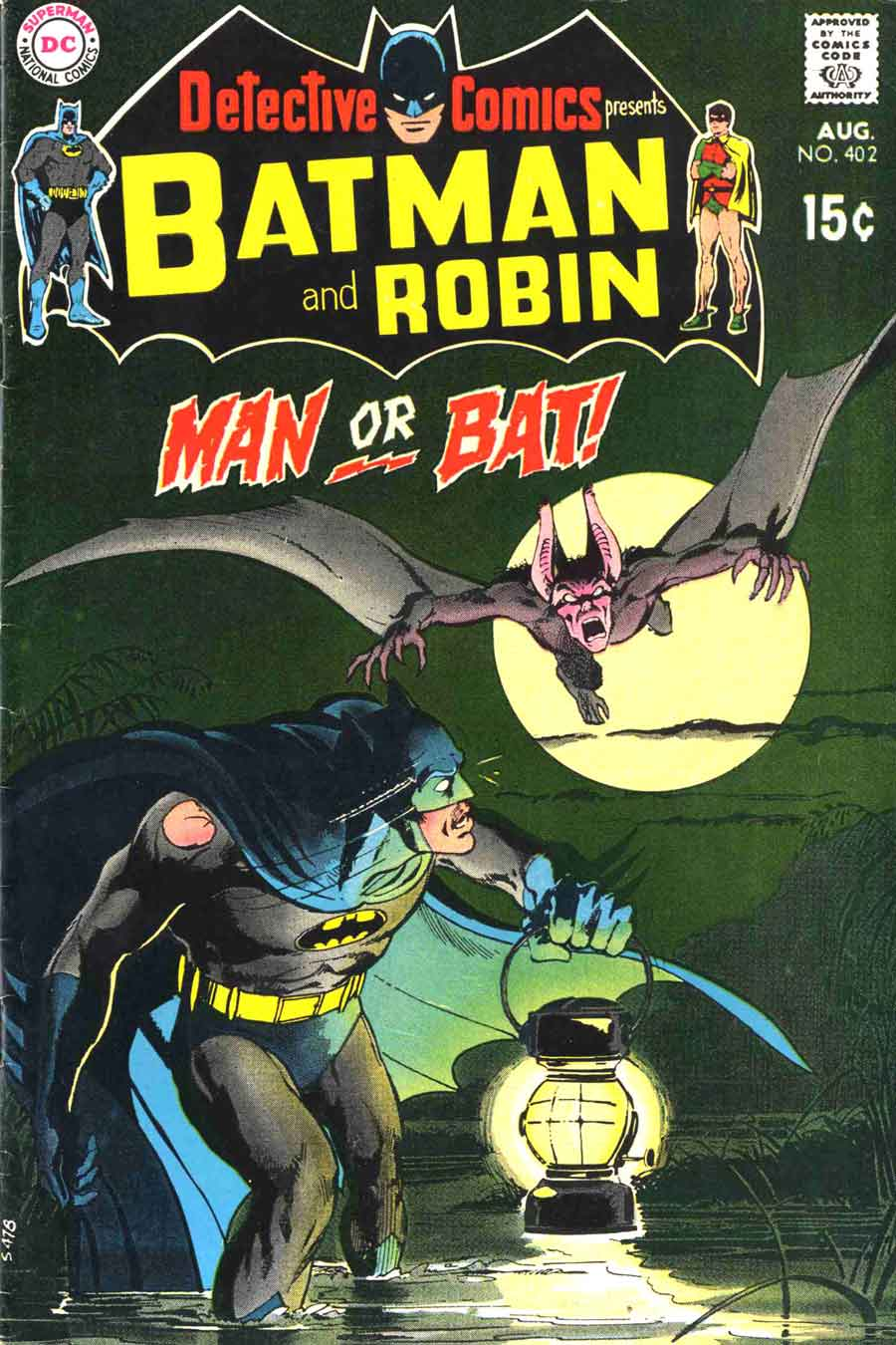 Detective Comics #402 dc Batman comic book cover art by Neal Adams