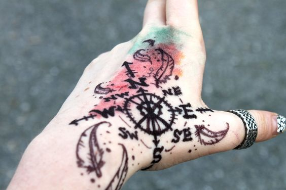 Creative Travel Compass Tattoos