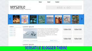 Versatile Blogger Theme Seo Friendly - Responsive Blogger Template