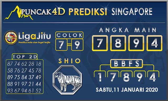 PREDIKSI TOGEL SINGAPORE PUNCAK4D 11 JANUARI 2020