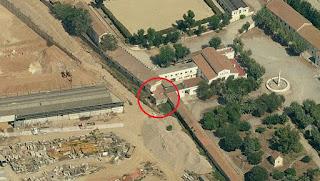 Torre carlista en una foto aérea de 2011