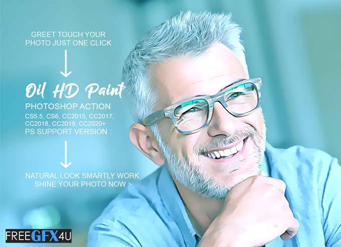 Oil HD Paint Photoshop Action