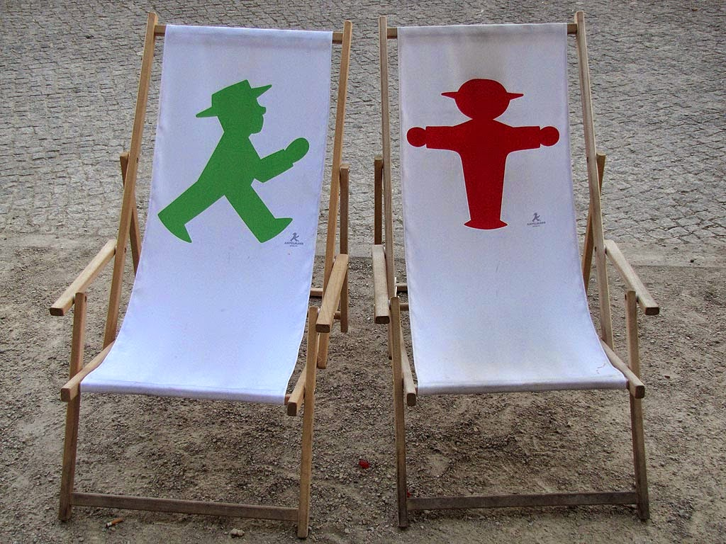 Beach chairs with Ampelmännchen, Berlin