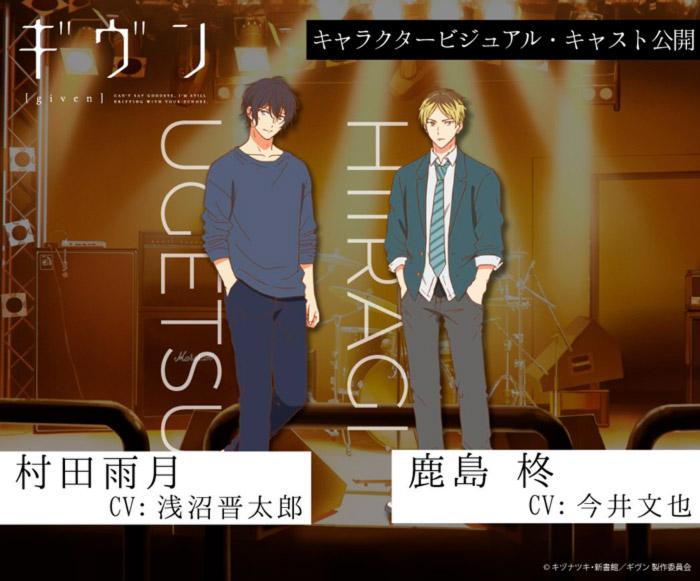 Given anime - reparto