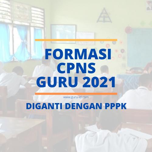 gambar formasi cpns guru 2021 ditiadakan
