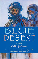book cover of Blue Desert, the new novel by Celia Jeffries