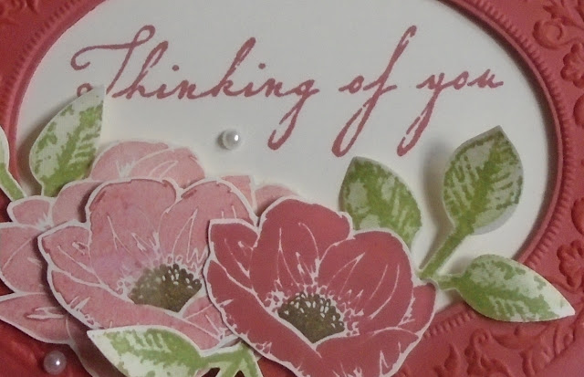 Craftyduckydoodah, Woven Heirlooms, Heirloom Frames Dies & 3D Embossing Folder, StampinUp! UK Independent  Demonstrator Susan Simpson, Supplies available 24/7 from my online store, Thinking Of You,