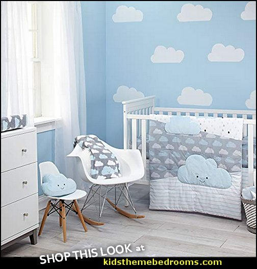 Happy Little Clouds 5 Piece crib Bedding clouds nursery bedding clouds baby bedding clouds baby bedrooms