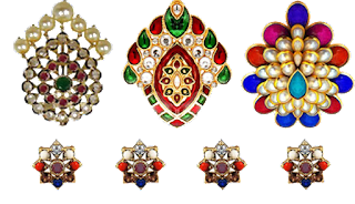 Jewellery Motifs for Textile Design png