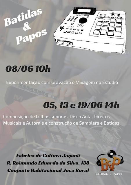 Workshop de Produção Musical - Batidas e Papos - Fabrica de Cultura Jaçanã