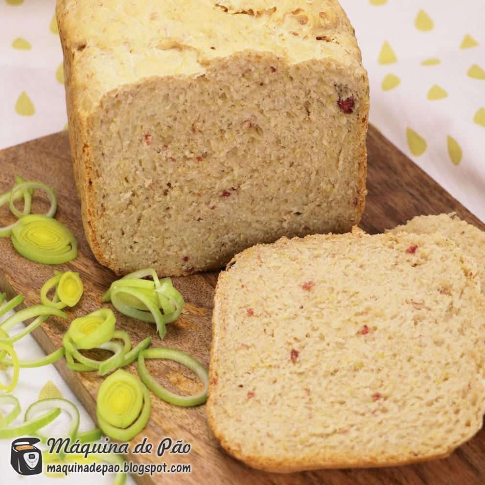 Pão de Alho-poró e Bacon