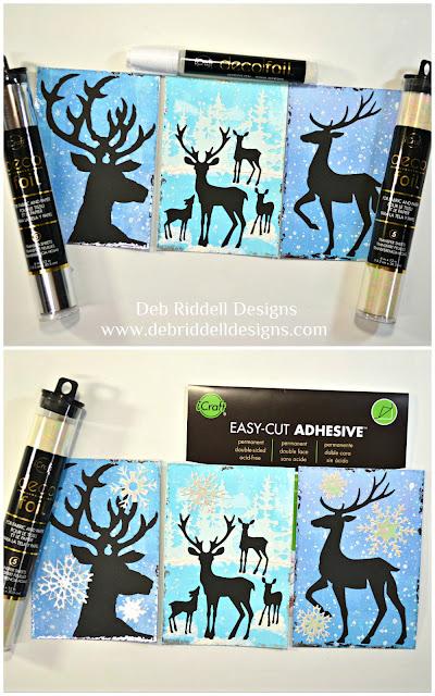 Winter Deer Triptych Tutorial Step Three